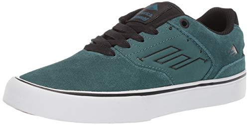 Emerica Men's 386 Medium US Skate Shoe, Teal/Black