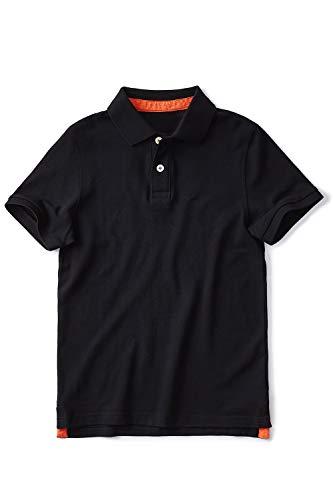Zengjo Pique Polo Shirts for Men No Logo Cotton Polo T Shirts Short Sleeve Modern Fit(M, Black)