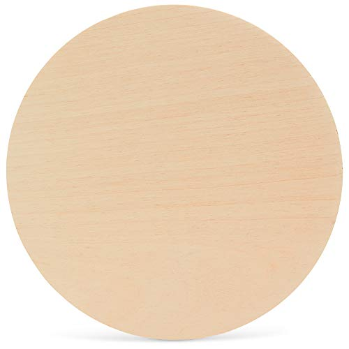 24 Inch Wooden Circle, 1/4 Inch (6mm) Thick Unfinished Baltic Birch Wood by Woodpeckers