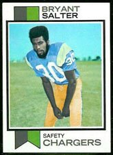 1973 Topps Regular (Football) Card# 67 Bryant Salter of the San Diego Chargers VGX Condition by Topps