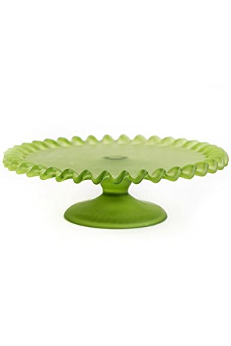 Vagabond Vintage Green Frosted Glass Cake Plate - Large  sc 1 st  Amazon.com & Amazon.com: Vagabond Vintage Green Frosted Glass Cake Plate - Large ...