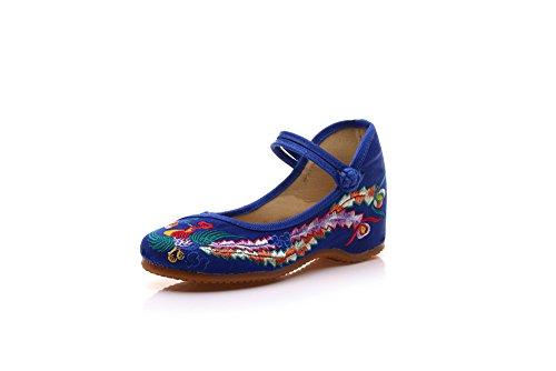A Etnico Ballo Donna Tendina Edge Da Scarpe Blue Moda Ming Suola Ricamate Stile Comode wgtHWRB