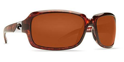 COSTA DEL MAR Women's Isabela Polarized Wrap Sunglasses, Tortoise, 63.2 mm (Womens Costa Del Mar)