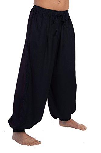 Gasparilla Pirate Festival (Dress Like A Pirate Ren Fair LARP Pants Elastic/Drawstring Waist Button Cuffs (2X/3X, Navy))
