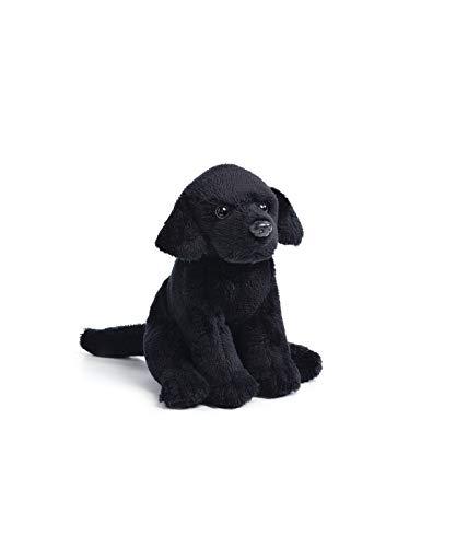 DEMDACO Little Black Labrador Children's Plush Beanbag Stuffed Animal Toy ()