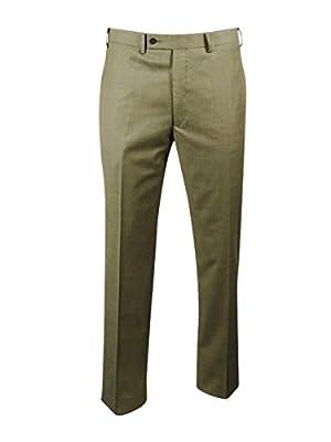 Calvin Klein Men's Sharkskin Slim-Fit Suit (Tan, 44R 38W)