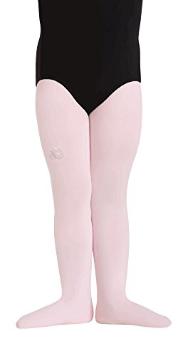 Body Wrappers Totalstretch Footed Tights, Theatrical Pink, Small/Medium (Wrapper Nylon Tights)