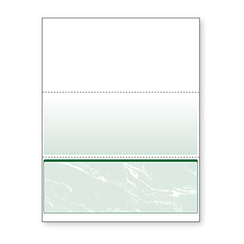 (DocuGard Green Marble Bottom Check, 8.5 x 11 Inches, 24 lb, 500 Sheets, 1 Check Per Sheet (04518))