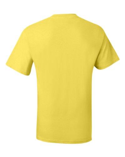 Hanes Adulto Giallo maglietta Beefy Tascabile t Da wq0UAS4w