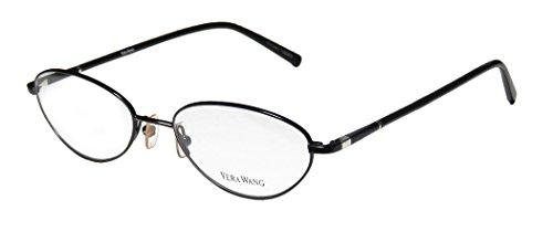 Vera Wang V110 Womens/Ladies Rx Ready Fashionable Designer Full-rim Eyeglasses/Eye Glasses (51-17-140, Black)