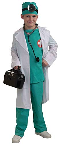 Forum Novelties Chief Surgeon Doctor Child Costume, - Scrubs Boys