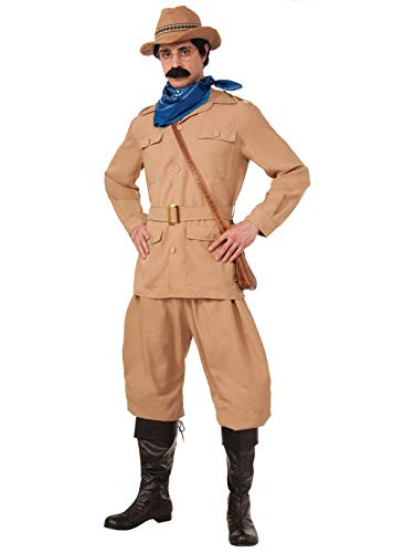 Forum Novelties Men's Theodore Roosevelt Xl Deluxe Costume, Brown, X-Large -