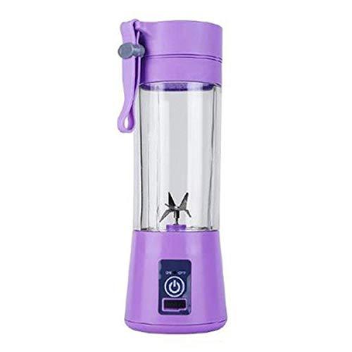 380ml Portable Juicer Electric USB Rechargeable Smoothie Blender Machine Mixer,purple,Poland,6 blades