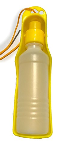 Portable Pet Water Bottle by LAgadgets | Great Water Bottle For Dogs & Cats And Other Pets| (Yellow)