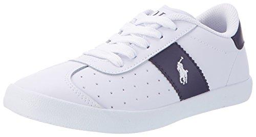 Ralph Lauren Swift - Zapatilla Baja Niños Weiß (White Leather w/ navy - white pp)