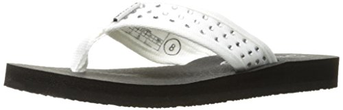 Skechers Cali Women's Meditation-Rhineston Flip Flop,White,5 M US