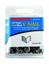 Logan Graphic Products Replacement V-Nails for Hard Wood, 1/4 inch, Package of 200 (F14)