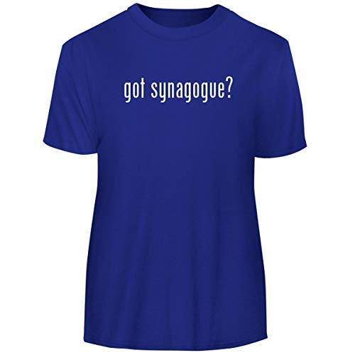 (One Legging it Around got Synagogue? - Men's Funny Soft Adult Tee T-Shirt, Blue, XX-Large)