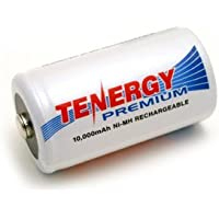 Tenergy Premium D Size 10,000mAh High Capacity High Rate NiMH Rechargeable Battery