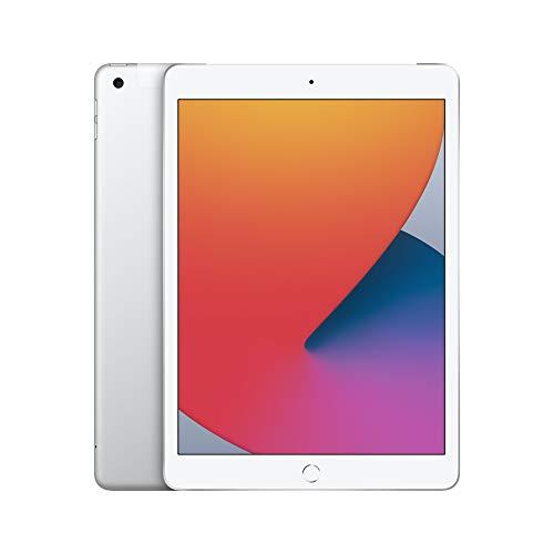 2020 Apple iPad (10.2-inch, Wi-Fi + Cellular, 32GB) – Silver (8th Generation)