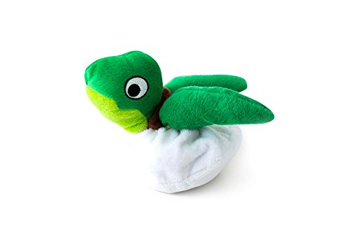 Skinneez Pet Toy (Hatchables Interactive Hide and Seek Puzzle Plush Dog Toy, Inside Out and Reversible, Hides Treats and Kibble, Egg and Animal 2 in 1 Squeaky Toy - Fetch Pet Products Turtle)