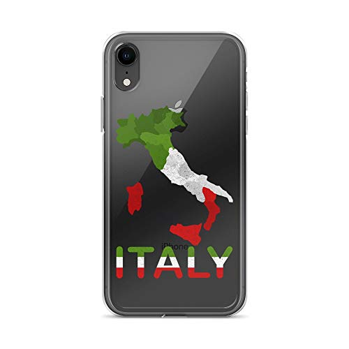 iPhone XR Pure Clear Case Transparent Cases Cover Italy Flag Vintage Italian Italia for Men Women Kids Traveling Crystal Clear
