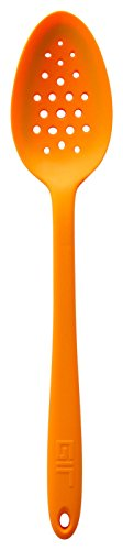 GIR: Get It Right Premium Silicone Ultimate Perforated Spoon, 13 Inches, Orange