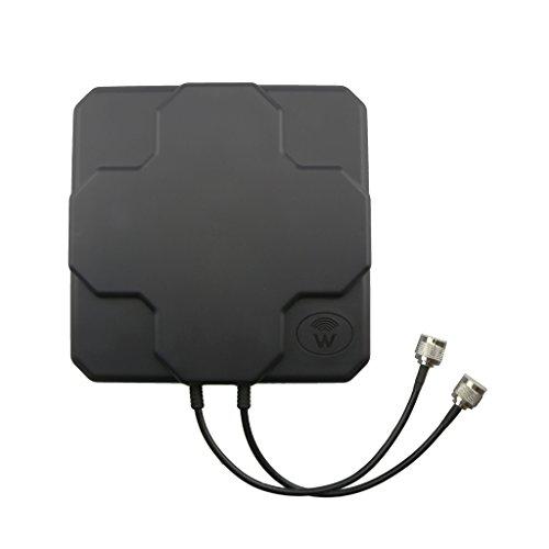 MagiDeal Booster Intensidad Amplificador de Señal Mimo Antena Exterior 4G LTE Dual SMA N Hembra Negro - #2