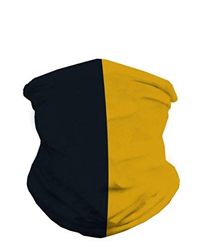 INTO THE AM Black & Gold Sports Fan Mask Bandana -