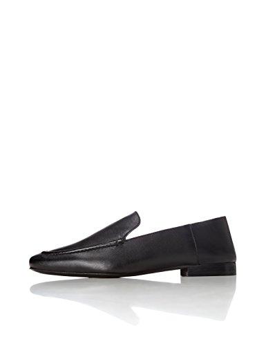 Trova Pantofola Donna In Pelle Con Tacco Piatto Nero (nero)