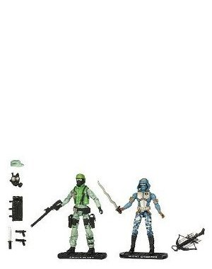 G.I. Joe Movie The Rise of Cobra 3 3/4 Inch Action Figure Exclusive 2-Pack Shockblast vs. Night Creeper - Exclusive Gi Joe Rise