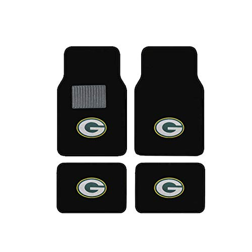 Green Bay Packers Embroidered Logo Carpet Floor Mats. Wow Logo on All 4 Mats.