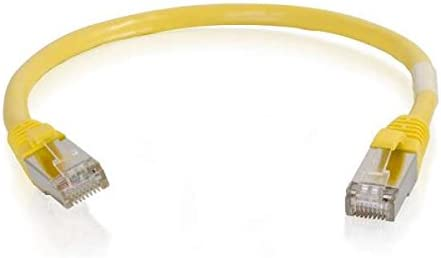 Yellow CyberWireAndCable 50ft Cat5e Molded Shielded STP Network Patch Cable