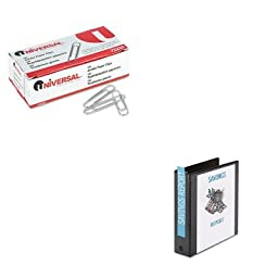 KITAVE05730UNV72220 - Value Kit - Avery Economy View Binder with Round Rings (AVE05730) and Universal Smooth Paper Clips (UNV72220)