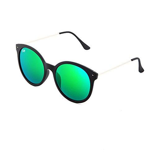 Gafas espejo Verde TWIG sol de redondo REMBRANDT Negro mujer rncrOWFq