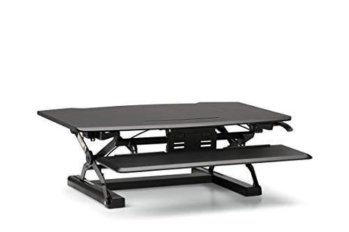 HON Coordinate Desktop Riser with Keyboard Tray, Black (BSXRISERBLK)