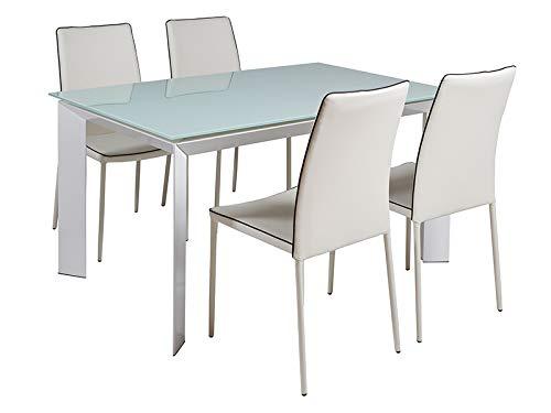 SantiagoPons Conjunto de Mesa y 4 sillas: Amazon.es: Hogar