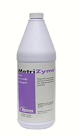 Metrex 10-4005 MetriZyme - Detergente de doble enzima, capacidad de ...