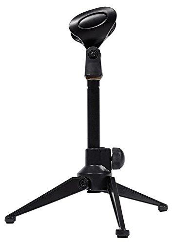 - Rockville RDTS Adjustable Height Studio Desktop Tripod Microphone Stand+Mic Clip