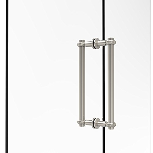 Allied Brass 404T-12BB-PNI Contemporary 12 Inch Back Shower Door Pull with Twisted Accent, Polished Nickel ()