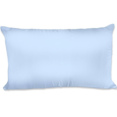 Silky Sleep Satin Pillowcase - Spasilk 100-Percent Silky Satin Hair Beauty Pillowcase, Standard/Queen, Blue