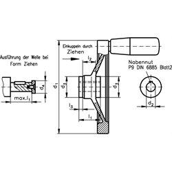 Safety-handwheel SHR diameter 160mm aluminium