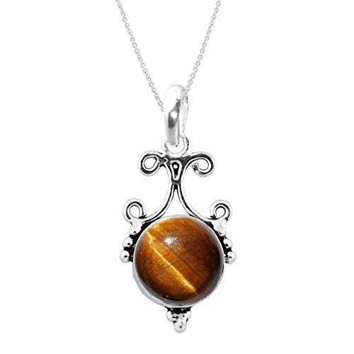 Silver Tiger Eye Necklace - 4