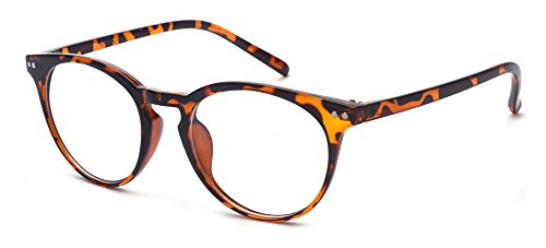 Outray Vintage Inspired Small Nails Round Clear Lens Glasses 2169c3 Leopard ()