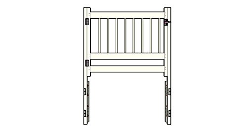Above Pool Ground Gate - SmartPool Above Ground Pool Safety Gate, Large, White