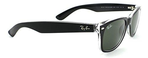 Transparent Rb2132 New green Sunglasses On Black 6052 Lens Color Ray ban Wayfarer Frame Unisex Mix 5q4TvH