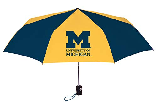 - University of Michigan Wolverines Super Sport Folding Umbrella Gift Box Packaging