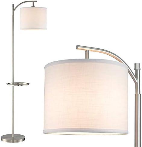 Kira Home York 63″ Minimalist Tray Table LED Floor Lamp 7W LED