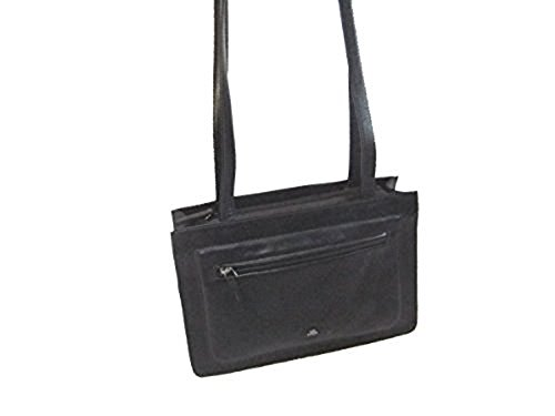 Handtasche Damen schwarz Bridge 046500 The Querformat Leder Efaxnwq
