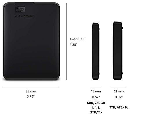 WD 2TB Elements Portable External Hard Drive - USB 3.0 - WDBU6Y0020BBK-WESN للبيع